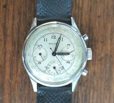 Vintage Gallet MultiChron Watch Valjoux 72 Stainless Steel Men