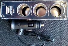 3 Fach Zigarettenanzünder KFZ USB 2.0 Verteiler Steckdose 12V - 24V USB Stecker