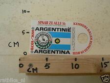 STICKER,DECAL WK ARGENTINA 1978 VOETBAL,SOCCER JH HENKES ARGENTINA ARGENTINIE A