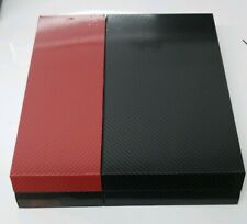 Ps4 Black/Red Carbon Fiber Shell For Full Console