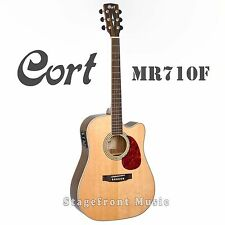 CORT MR710F SOLID TOP ACOUSTIC/ELECTRIC GUITAR - SATIN FINISH *BRAND NEW*