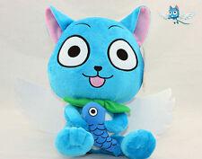 Anime Fairy Tail Blue Cat Happy Plush Doll Toy Kids Cute Cartoon Gift 10'' Doll