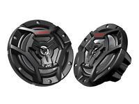 "JVC CS-DR6200M 300 Watts 6.5"" 2-Way Coaxial Marine Audio Speakers 6-1/2"" New"
