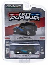 1:64 GreenLight *HOT PURSUIT R15* 2012 Jeep Wrangler GENEVA IL POLICE CAR  NIP!