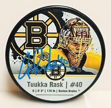 Tuukka Rask Boston Bruins Signed Autographed Souvenir Photo Hockey Puck