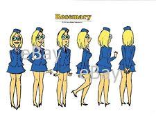 HONG KONG PHOOEY MODEL SHEET PRINT Hanna Barbera - ROSEMARY a