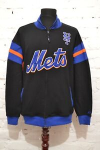 VINTAGE MAJESTIC NEW YORK METS TRACK JACKET WINDBREAKER MENS XL