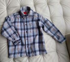 Esprit Hemd Langarm in blau kariert, Größe 104/110 warm und weich 100% Baumwolle