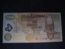 ZAMBIA-edizione 2003 - 500 KWACHA IN POLIMERO - 2011-UNC