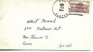 PLATTE (AO-24) 25 September 1954 Locy Type 2r postmark