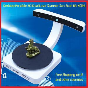 SUNHOKEY 3D Desktop Dual Laser Scanner Portable Turnplate BR-XQ06