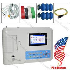 US FDA Portable Digital 3-channel Electrocardiograph ECG/EKG Machine 12 leads+SW