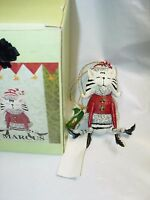 Whimzles MARCUS CAT Xmas CHRISTMAS TREE Ornament KURT Adler Michele Noiset RESIN