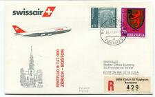 FFC 1983 Swissair First Flight B 747 300 Zurivch Boston USA REGISTERED Flughafen