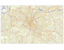Postcode City Sector Maps 2 Birmingham - Laminated Wall Map For Business