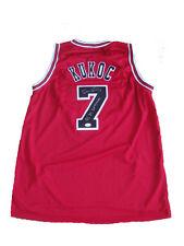 Toni Kukoc Signed Chicago Bulls 3x Champ Away RED Jersey JSA