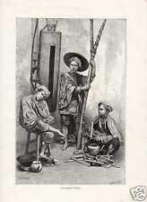Antique print wachtpost Batavia VOC Java Indonesië
