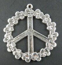 6pcs 9475 Tibetan Silver  Peace symbol Pendants 55.5x2mm