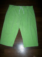 WOMENS STRETCH KNIT TERRY CROPPED CAPRI LOUNGE CASUAL PANTS size 22/24 3X NWT