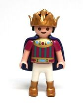 Playmobil Figure Princess Castle Boy Child Prince w/ Gold Crown Blue Cape 4137