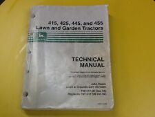 John Deere 415, 425, 445 And 455 Lawn & Garden Tractors Technical Manual Tm 1517