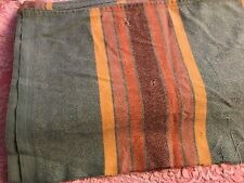 Throw spread tablecloth vintage 100% cotton woven in striped 1940's