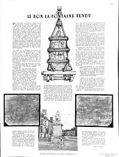 Statue de Jean de La Fontaine la place de Château-Thierry WWII 1941 ILLUSTRATION