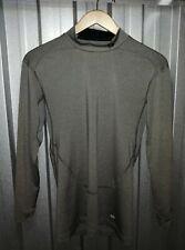 Mens Nike Pro Combat dri fit grey long sleeved sports top. Size L.