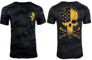 Howitzer Style Men's T-Shirt LIBERTY OR DEATH Black Camo Military Grunt