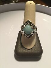Carolyn Pollack Sterling Silver Ring with Gemstones size 10    (2