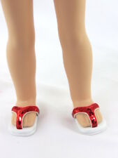 "Red Flip Flops Fits 14.5"" Wellie Wisher American Girl Doll Shoes"