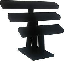 Bracelet Display- T Bar, Triple Bar- Black