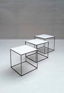 Rare Early Edition Poul Kjaerholm PK 21 Nesting Tables 1950s wegner jacobsen era