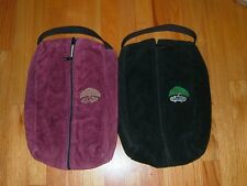 Golf Shoe Bag Tote  - Suede - Black or Burgundy