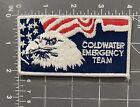 Vintage Coldwater Emergency Team Logo Advertising Patch Badge CET MI MS EMT EMS