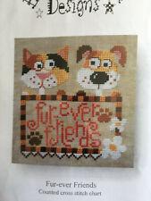 Barbara Ana Designs Fur-Ever Friends Counted Cross Stitch Chart w Linen Thread