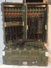 Pelican-Hardigg Mobile Military Surplus Armory Weapons 12 Rifle Gun Hard Case