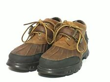 Mens Polo Sport Ralph Lauren Brown Leather Hiking Boots Size 8D