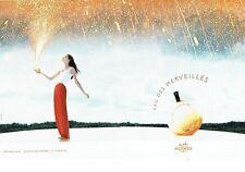 Publicité Advertising 077  2006  Hermès (2p)   parfum Eau de Merveilles
