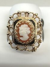 14kt Yellow Gold Filigree Frame Cameo Ring