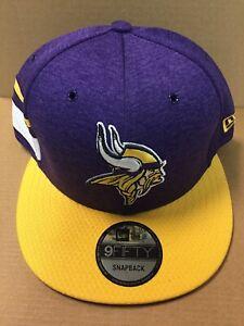 2018 Minnesota Vikings New Era 9FIFTY NFL Sideline On Field Snapback Hat Cap NWT