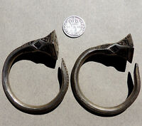 a pair of old silver ornate african earings tuareg mali niger #56