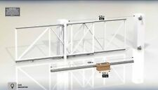Telescopic Cantilever Gate Hardware Kit 4.25m entrances Sliding Gate