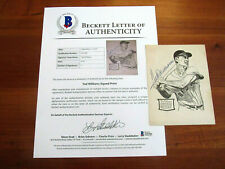 TED WILLIAMS BOSTON RED SOX HOF SIGNED AUTO VTG TED'S BB CAMP PHOTO CARD BAS LOA