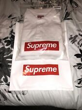 Supreme Corner Arc L/S Polo White Size XL