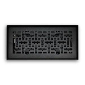 ( 2 pack ) 4 in. x 10 in. Modern Contempo Floor Diffuser in Matte Black