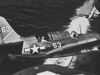 WWII B&W Photo US Navy SB2C Helldiver USS Yorktown  WW2 World War Two USN / 7052