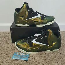 Lebron XI 11 iD Army Green / Glow in the Dark GITD size 9 champ pack kings pride
