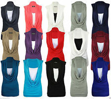 Sleeveless No Pattern Waist Length Tops & Shirts Plus Size for Women