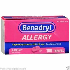 Benadryl Allergy Ultratab Tablets, 25mg, 100ct 300450170149A1034